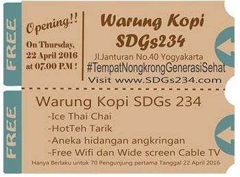 Pembukaan SDGs234 di Jonturan tgl22April dengan Minum Kopi dan Teh